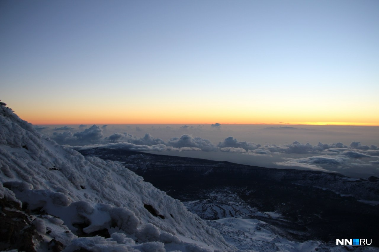 Рассвет на высоте 3718 метров