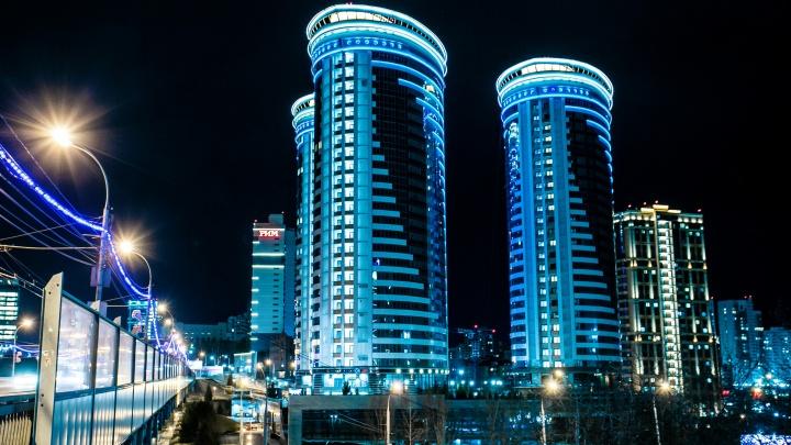 Город в огнях: фотограф красиво снял ночной Новосибирск