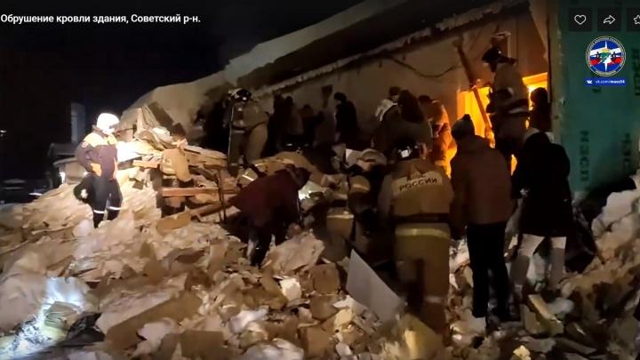 Гора обломков и снега. Спасатели обнародовали впечатляющее видео разбора завалов в Академгородке