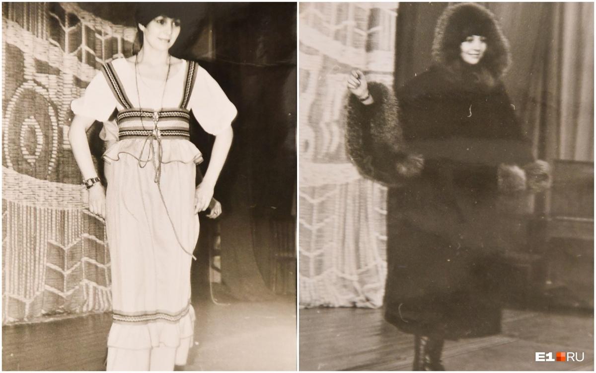 Тамара Зимина во время работы моделью