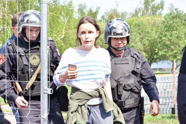 Алену Смышляеву задержали сегодня днем