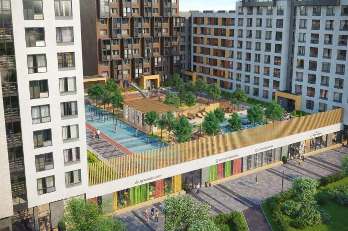 Жилой комплекс «Сказка» строят в микрорайоне ЖБИ