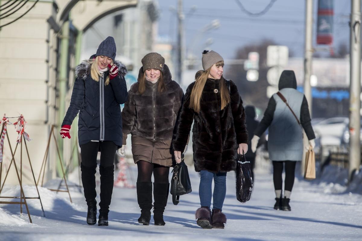 Около 10 утра в центре Новосибирска было -34 градуса