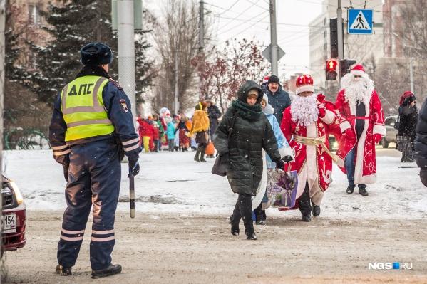 С 21 декабря по 9 января на улицах Новосибирска усилится работа правоохранительных органов