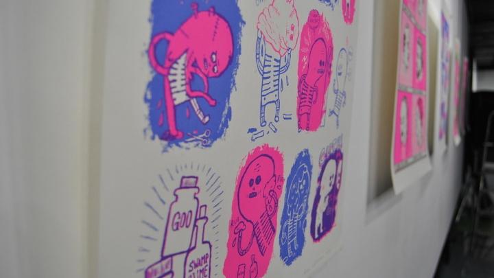 Новосибирцам показали картины-комиксы финских художников