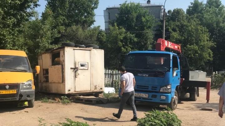 В Самаре снесли незаконный паркинг возле жилого комплекса «Аврора»