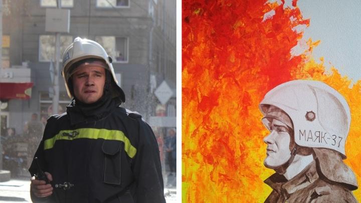 «Наблюдала с лёгким ужасом»: художница нарисовала героев-мужчин, спасших её из здания на Советской