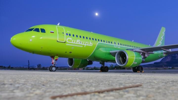 Видео: на самолёте S7 Airlines написали слово «Сибирь»