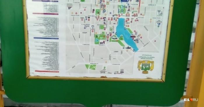 «Неправильную» карту установили на одной из автобусных остановок