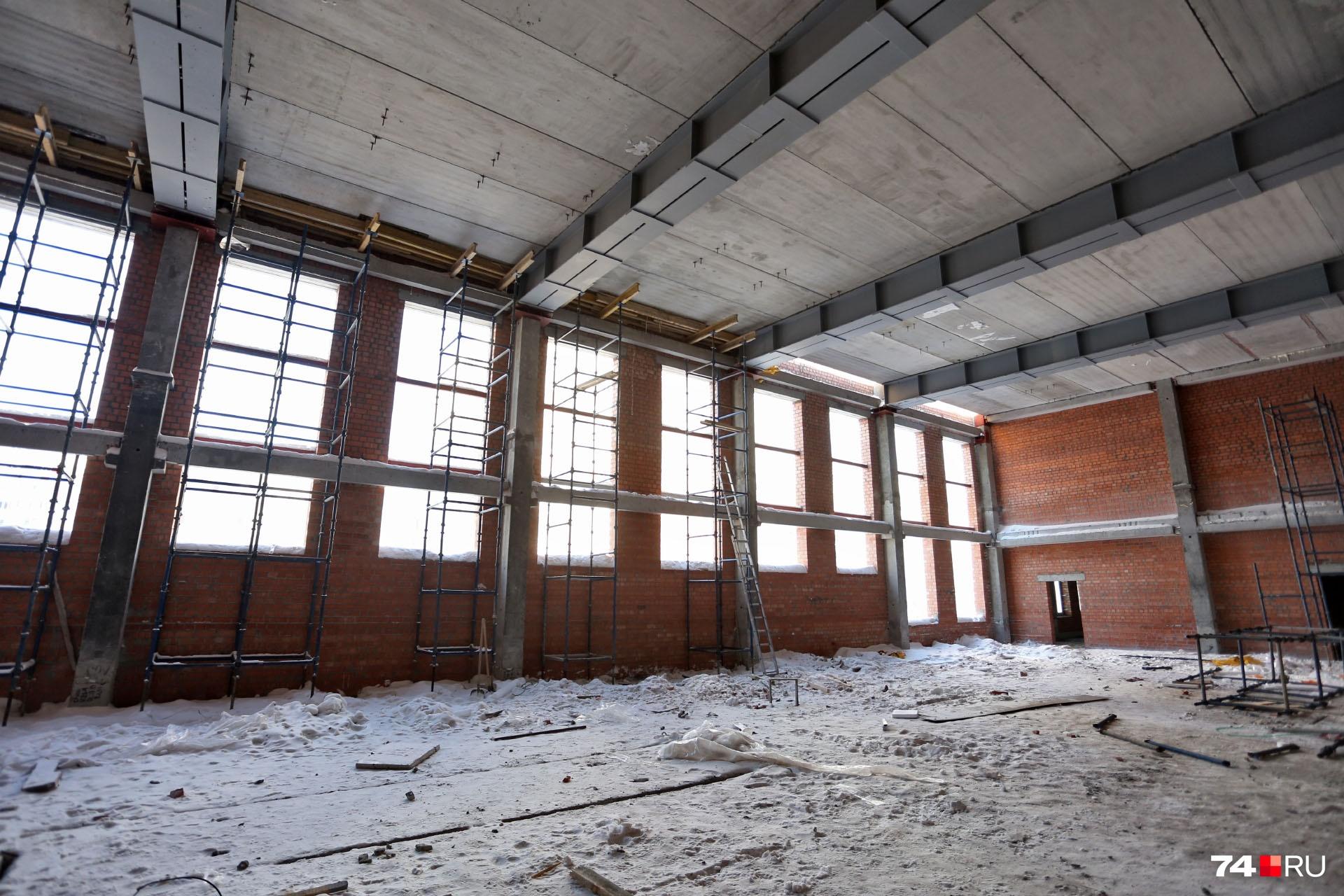 В ней будет два спортзала и хореографический зал