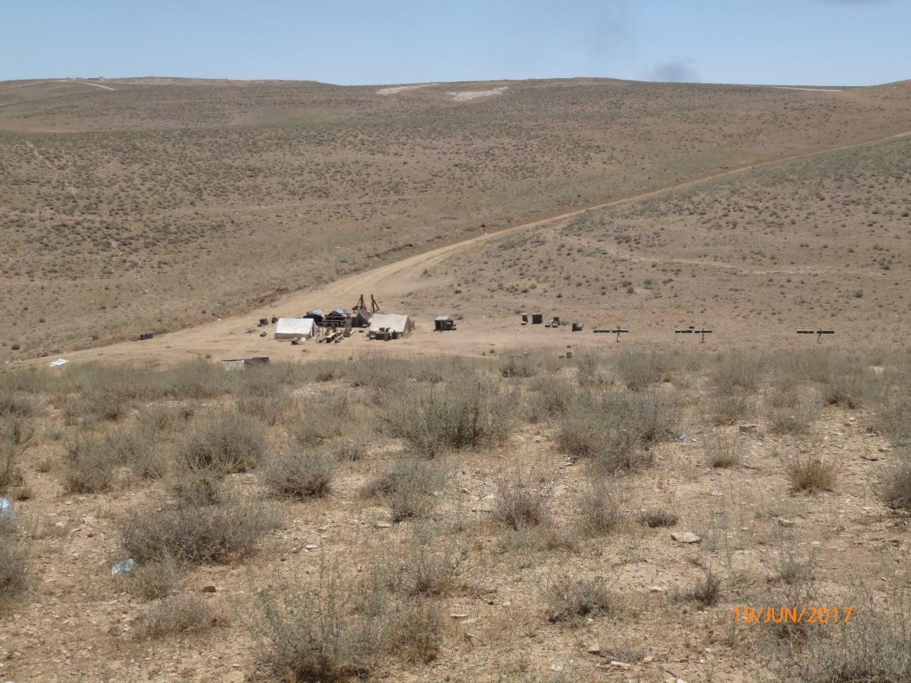 Опорный пункт штурмового взвода в сирийской пустыне