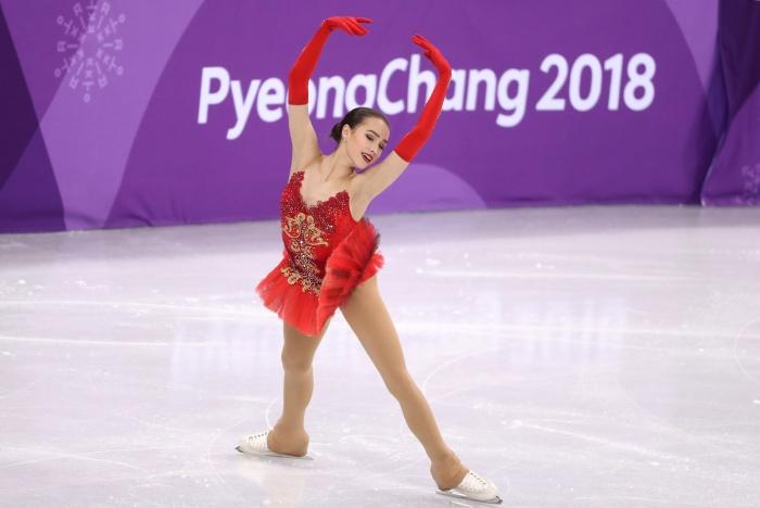 Алина Загитова во время выступления в произвольной программе