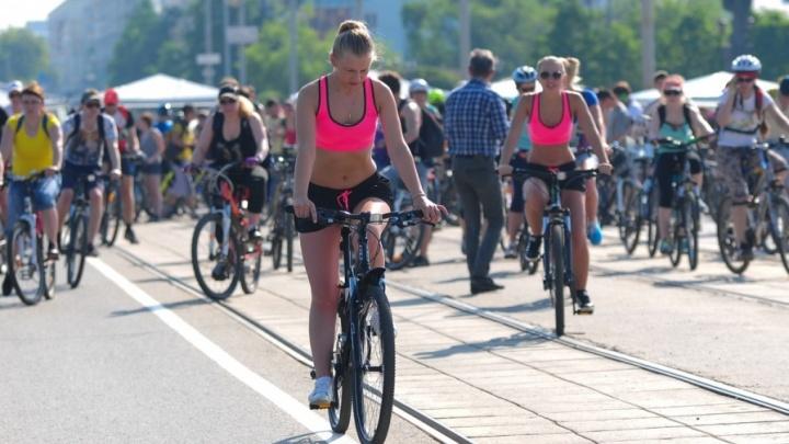 «Екатеринбург Арена» оказалась идеальным местом для старта «Майской велопрогулки»
