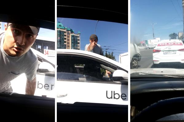Таксист наHyundai атаковал водителя, который выехал с парковки