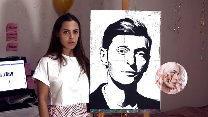Тюменка вслепую нарисовала портрет Павла Воли. Показываем, как это было