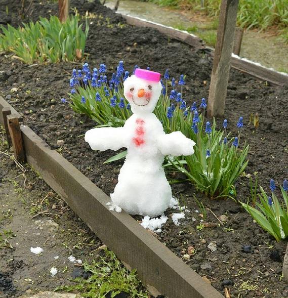 Снеговик с Северо-Чемского жилмассива