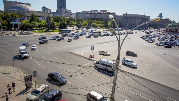 Власти объяснили путающую разметку на площади Ленина