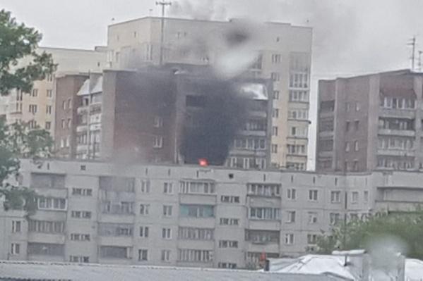 На Гоголя загорелась квартира на 11-м этаже