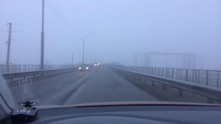 ГИБДД просит водителей быть аккуратнее на дорогах из-за сильного тумана в Кургане