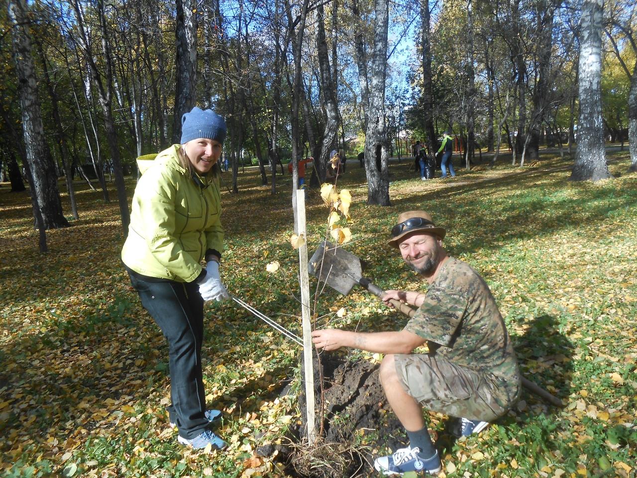 По оценке Марины Поповой, деревья пришли сажать около 40 человек