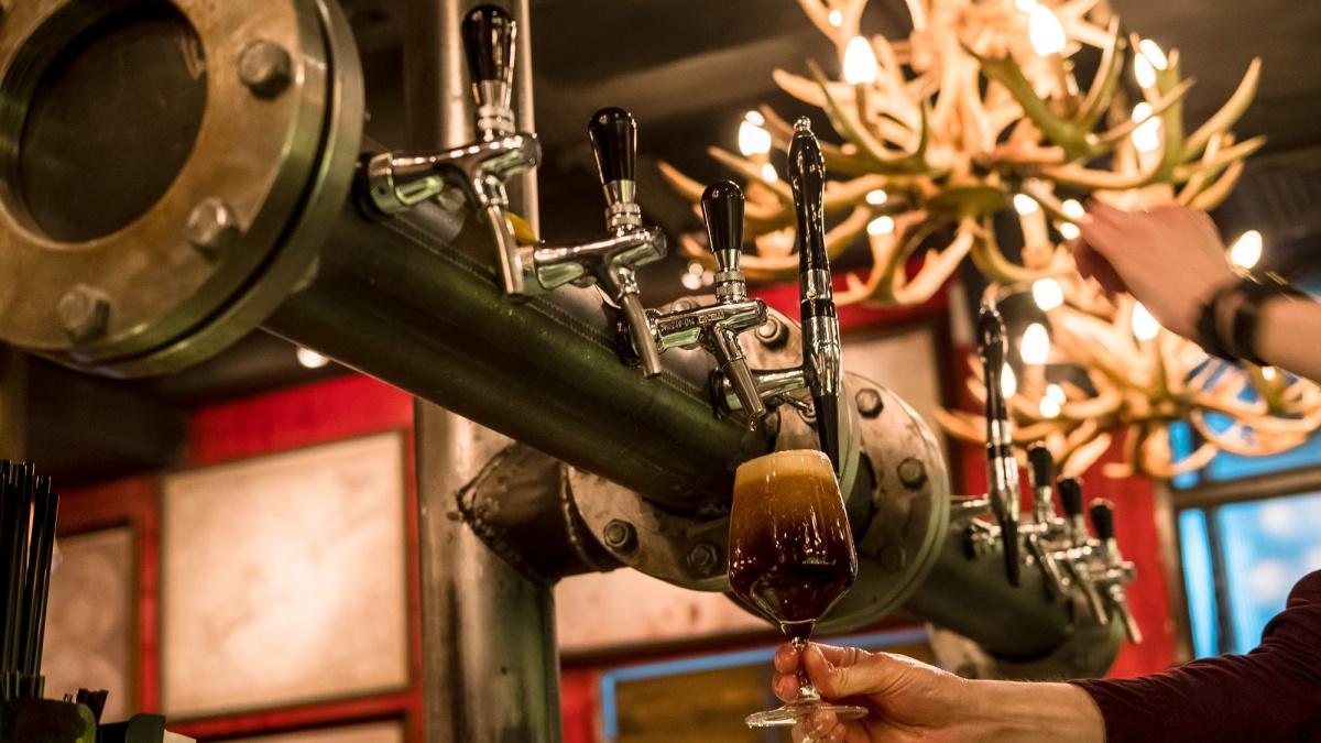 Пивопровод выведен прямо в бар