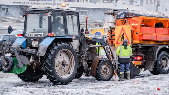 Мэр Перми пообещал подрядчикам «разбор полетов» за плохую уборку улиц от гололеда