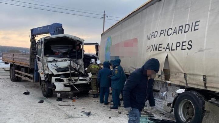 В ГИБДД Башкирии назвали причину аварии манипулятора и фуры в Уфе