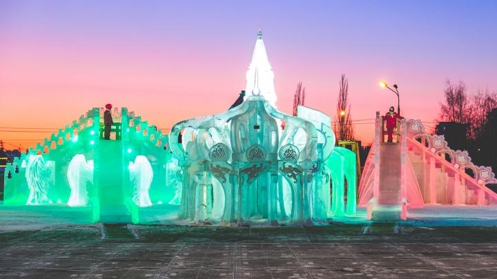 В Перми ледовый городок закроют в субботу из-за оттепели