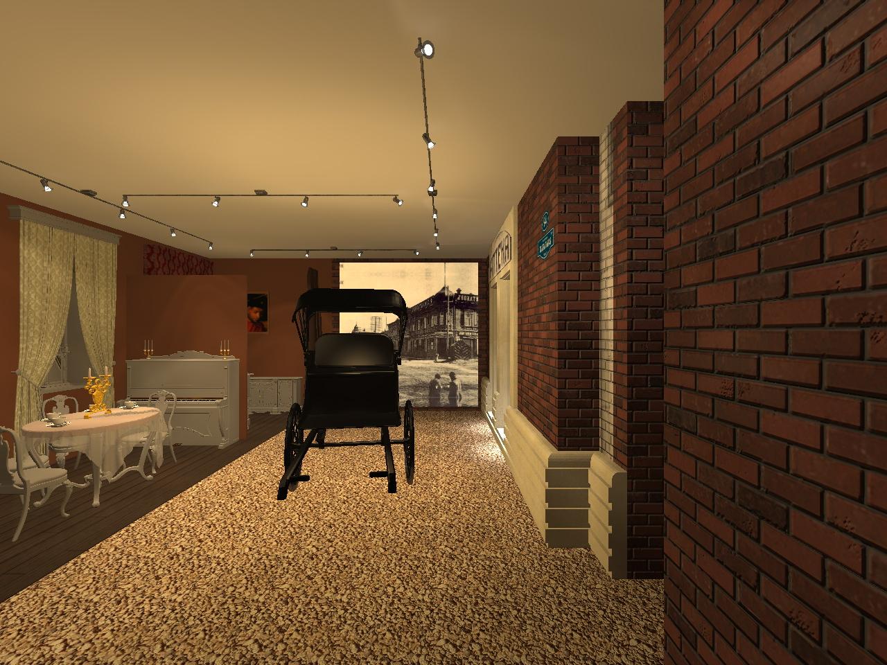 В части музея, посвящённой купечеству, частично восстановят типичный для того времени интерьер домов и виды улиц