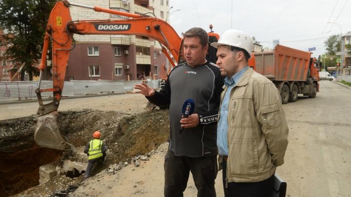 Почему стоит Пионерский: выясняем в прямом эфире, для чего разрыли дорогу у моста на Шевченко