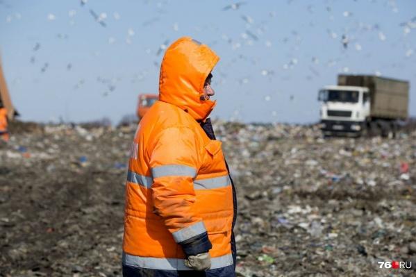 На полигоне будут дробить отходы