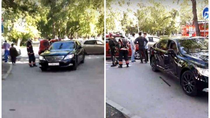 На Мельникайте при столкновении двух иномарок пострадала женщина