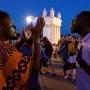 Африканские болельщики показали в фан-зоне Волгограда ритуальные танцы