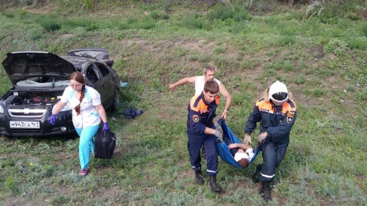В аварии на трассе М-4 «Дон» в Миллеровском районе пострадал мужчина