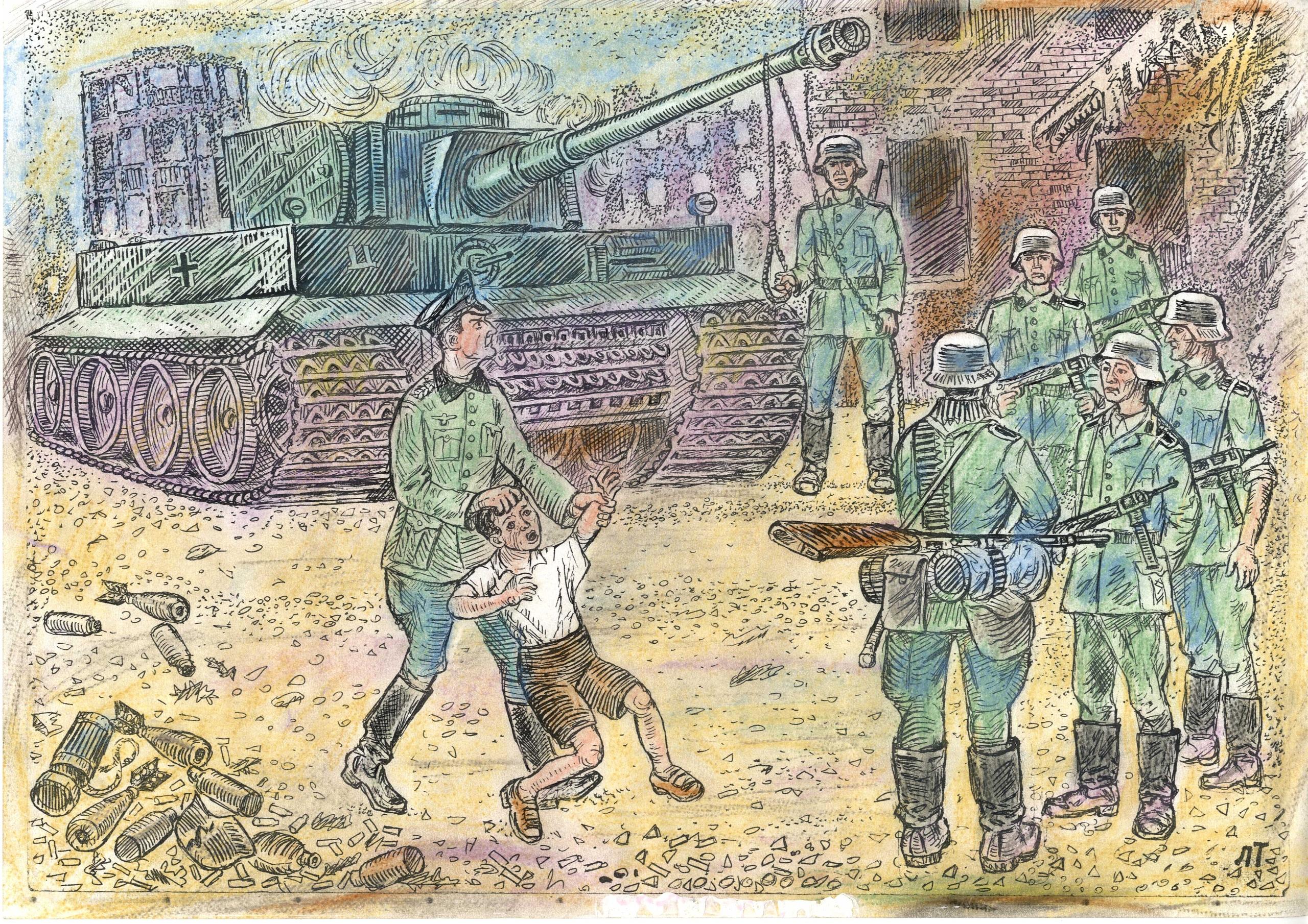Сталинградский мальчишка перед смертью