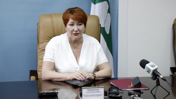 Курганский сенатор Елена Перминова стала и. о. председателя комитета по бюджету Совфеда