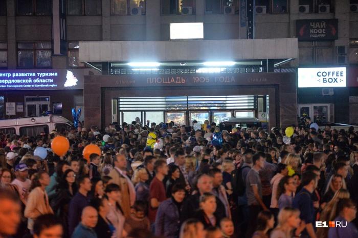 В День города в метро всегда огромные очереди
