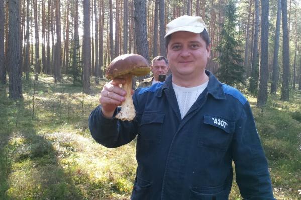 За такой гриб можно и тост поднять!