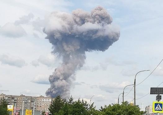 Столб дыма в Дзержинске видел каждый