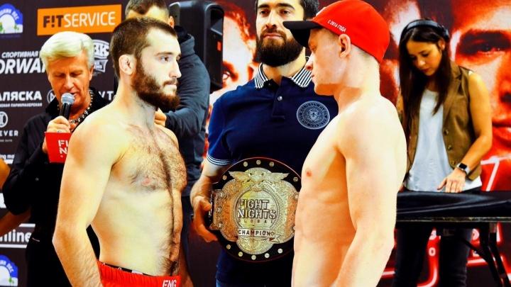 Бой остановили во втором раунде: впервые в истории уральский боец стал чемпионом FNG, пока временным