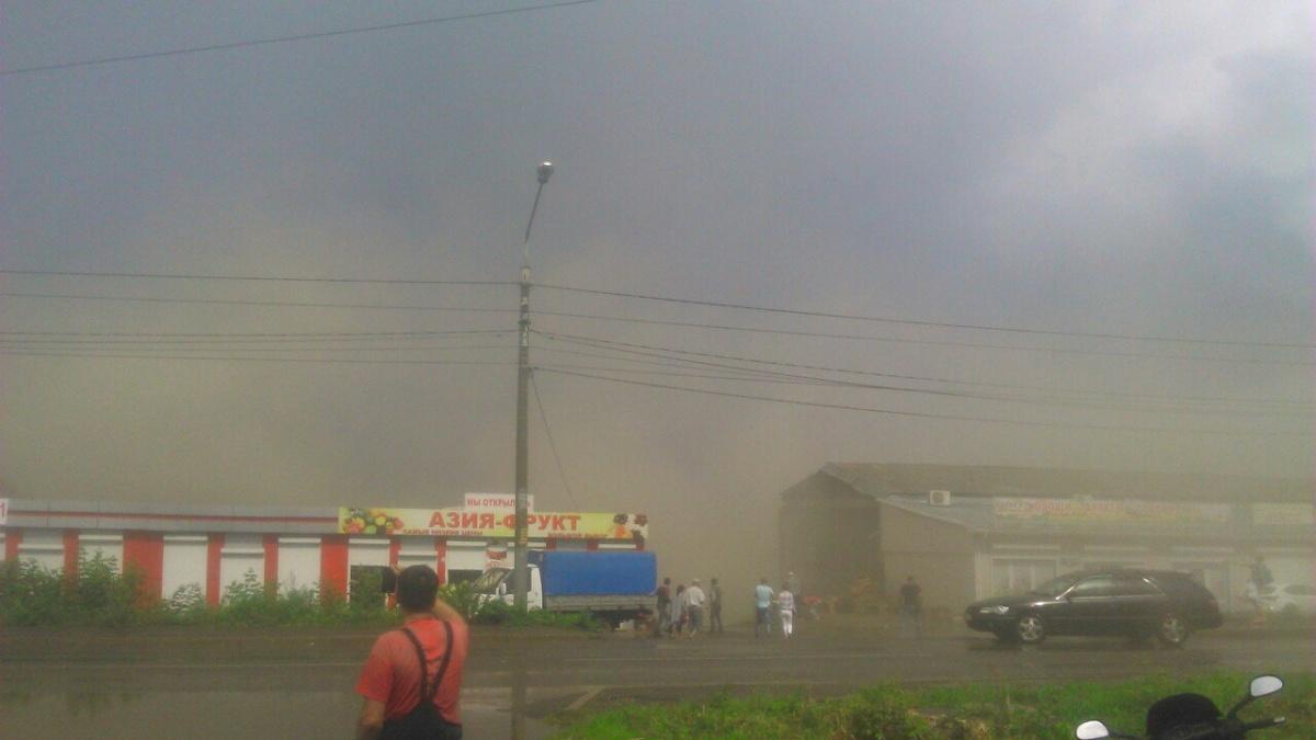 ВКрасноярске обрушилось заброшенное овощехранилище