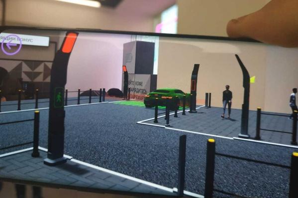 Виртуальные сцены покажут, как «умная» остановка взаимодействует со смартфоном пользователя