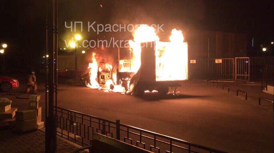 Направобережье Красноярска навсе 100% выгорел трамвай