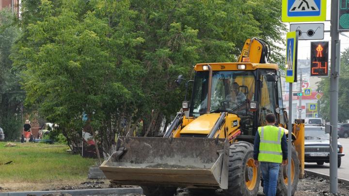В Кургане ремонт дорог выполнен на 65%