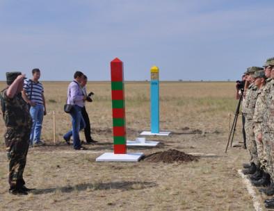 Установка пограничных столбов в Купинском районе