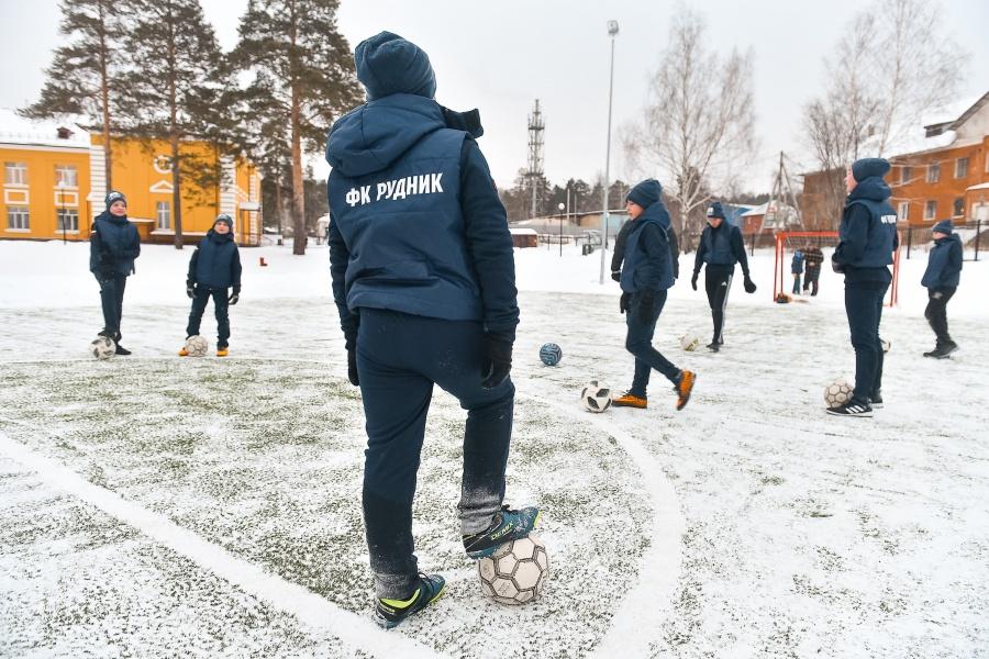 Рядом с ЖК тренируется футбольный клуб «Рудник»