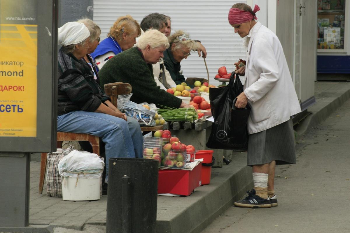 Пенсионерам приходится подрабатывать, продавая садовый урожай