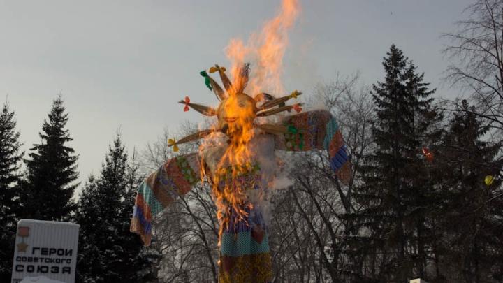 Новосибирский зоопарк решил сжечь большое чучело на Масленицу