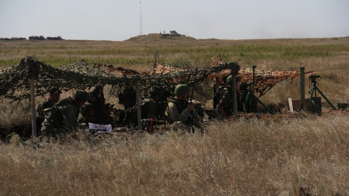 На полигоне «Прудбой» танкисты издалека расстреляли условного противника