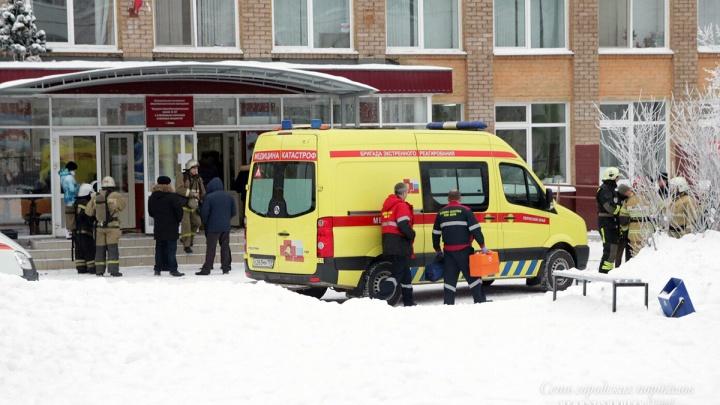 В пермской школе люди в масках и с ножами напали на детей